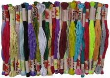 35 pcs Art Silk/Rayon Stranded Embroidery Thread Skeins *Cross Stitch*