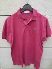 Polo LACOSTE Devanlay rouge terracotta coton shirt 5 made in France