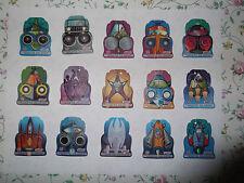 SUPERHERO COMICS CARDS TAZOS POGS SHOOTERS PLASTIC YEAR 2004 LOT OF 45