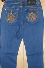 NEW Dereon Womens Jeans, Embroidered, Size 7/8, 100% Authentic! $79!