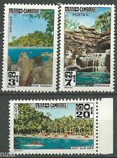 Cambodia-Cambodge yvert # 136/138 Mnh Set Turismo / tourism