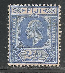 Fiji #73 (A22) (SG #120) VF MINT LH - 1910 2 1/2p King Edward VII