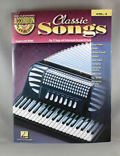 Hal Leonard Accordion Play Along Volume 3 Classic Songs - Brand New + CD