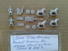 15mm Essex Miniatures Ancient Sumerian Four Onager Chariot w/ crew