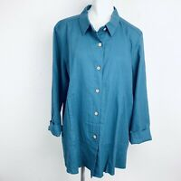 SIMPLY NOELLE LINEN COTTON WOMEN SHIRT. SIZE 16/18. New With Tags