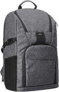 Camera Backpack for Pro DSLR and Laptop - High Density Water-resistance Ash Grey