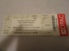 The Gipsy Kings 2018 World Tour DPAC Concert Ticket Stub