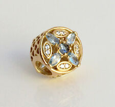 Authentic Pandora Patterns of Frost Openwork Charm 14K Gold Plated 791995NMBMX