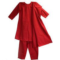 Salwar Kameez Kleid Hose Schal 38 Gr. M Indien Bollywood Kostüm Rot 40U