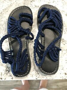 Sandals Womens Size 5/36 Navy Blue