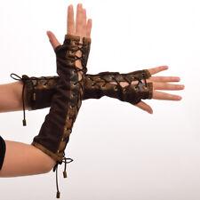 Lolita Steampunk Women's Armband Vintage Victorian Tie-Up Mittens Cosplay Gloves