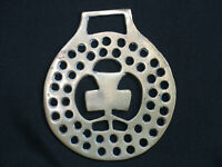Vintage Lucky Clover Horse Brass Medallion Harness Ornament