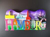 Hamburg Magnet Glitter Schrift,Reise Souvenir Germany aus Poly,Neu