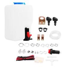 Universal Windscreen Washer Bottle Kit with Pump Hose Jets Wiring Switch 12V GL