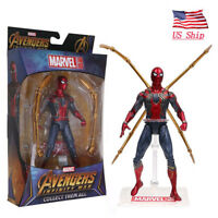 "US! Avengers Infinity War Iron Spider Man Marvel Figure Model 7"" Toy Fans Gifts"