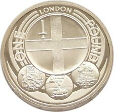 2010 Capital Cities of the UK London £1 One Pound Proof Coin