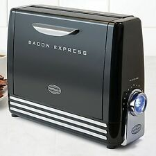 Nostalgia Electrics Bacon Express Cooker in Black Cooking 6 Strip Bacon
