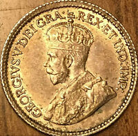 1917 CANADA SILVER 5 CENTS COIN - Fantastic example! Very close to Uncirculated