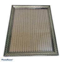 """Vintage 7""""x9"""" Gold Tone Metal Reticulated Ornate Photo Picture Frame"""