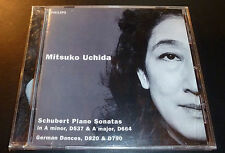 """New! MITSUKO UCHIDA """"Schubert Piano Sonatas A Minor D537/D664 CD Philips SEALED"""