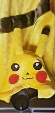 Pokemon Pikachu One Piece Yellow Hooded Jumpsuit Adult Size Large