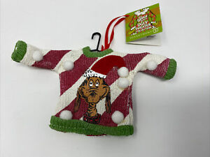 DEPT 56 THE GRINCH UGLY SWEATER CHRISTMAS ORNAMENT NEW RETIRED