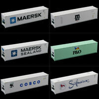 40ft Hi-Cube Refrigerater Shipping Container Freight Cars HO Scale lot