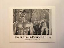 "RARE vintage 1990 Tom of Finland Foundation photo, B&W 4""x5"" silver gelatin"
