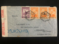 1941 Lorenzo Marques Mozambique Portugal Censored cover To Rutherford NJ USA