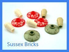Lego Plants - 5x Mixed Mushroom Toadstool City Hobbit Castle Lord Rings Garden