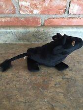 Vintage NEW Mid-90's MERRILL LYNCH Promotional Black Plush Stuffed Beanie BULL