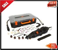 Rotary Tool Kit Accessories With Flex Shaft Dremel Set Variable Speed Case Carry