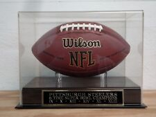 Pittsburgh Steelers Football Display Case With A 6X Super Bowl Champs Nameplate