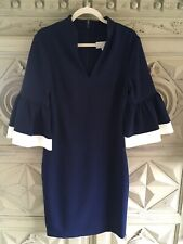 Beautiful Navy Mikael Aghal Dress - Size 14