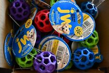 Lot of 4 JW Pet Company Mini Holee Roller Ball Dog Toy, Colors Vary, 2 inch