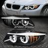 [LED U-HALO] FOR 2006-2008 BMW 3-SERIES E90 BLACK HOUSING PROJECTOR HEADLIGHTS