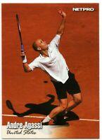 ANDRE AGASSI U.S.A. 2003 NETPRO TENNIS ROOKIE CARD #86! TENNIS LEGEND!