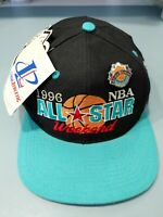 Vintage 1996 NBA All Star Weekend Snapback Hat Alamodome With Tags & Pin