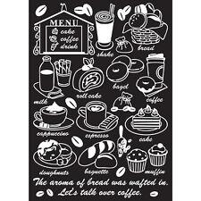 Instant Art Home Decor Wall Sticker Decal Sheet - Cafe Menu Cake Coffee Drink