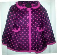 NEW Girl's Ex Chain Store Pink Polka Dot Hooded Winter Coat Baby 9 Mth to 6 Yrs