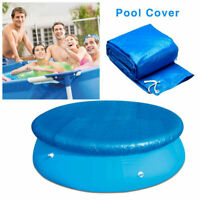 6/8/10ft Round Swimming Paddling Pool Cover Tarp Inflatable Easy Fast Set Rope