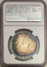 1936 canada silver dollar NGC MS63 -Amazing Toning-