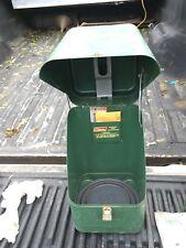 Vintage Coleman Green Metal Case  And 220H Lantern