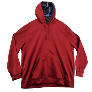 REEBOK Sweater Mens Hooded Long Sleeve Hoodie Maroon Size XXL