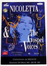NICOLETTA : rare billet ticket concert FRANCE Cathédrale de Meaux 23/03/1996