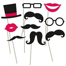 Photo booth kit props - moustaches, lips, glasses, hat