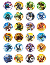 24 x Skylanders Edible Cupcake Toppers Birthday Party Cake Decoration