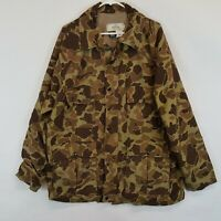 VTG Red Head Camo Hunting Shirt Jacket Coat Mens L Large Green Duck Camouflage