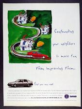 1996 Saab 9000 Aero vintage print Ad