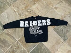 Vintage Oakland Raiders Riddell Spellout Football Sweatshirt, Size XL
